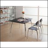Стол обеденный B2165 (Хром M007, Венге ME002)