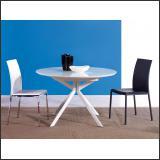 Стол обеденный B2379 (Глянец белый W023, Стекло белое WHITE)