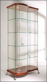 Витрина Прямоугольная с гнутой дверью и боковиной As64.09-01 h1872мм (Вишня 46)